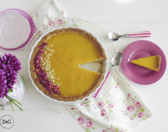 Tarta de almendras y mango