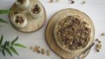 tarta de queso y avellanas sin gluten
