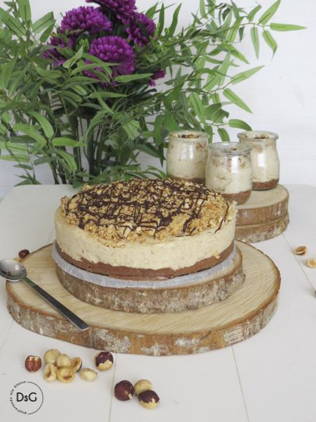 receta de tarta de queso y crema de avellanas sin gluten