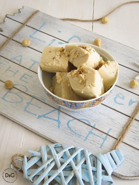 helado casero de avellanas