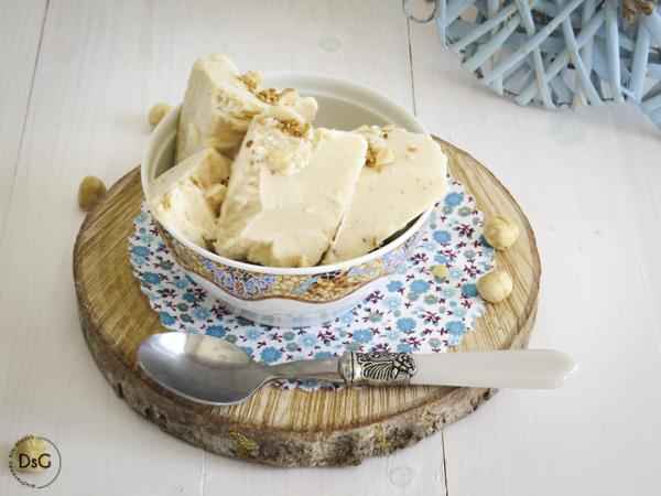 helado casero de avellanas sin gluten