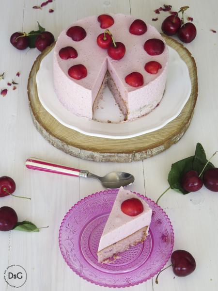 tarta de cerezas sin gluten y sin lactosa
