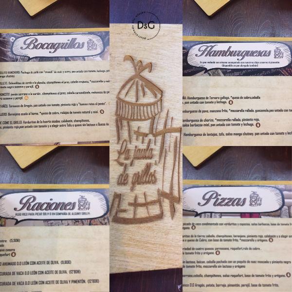 carta sin gluten restaurante jaula de grillos Zaragoza