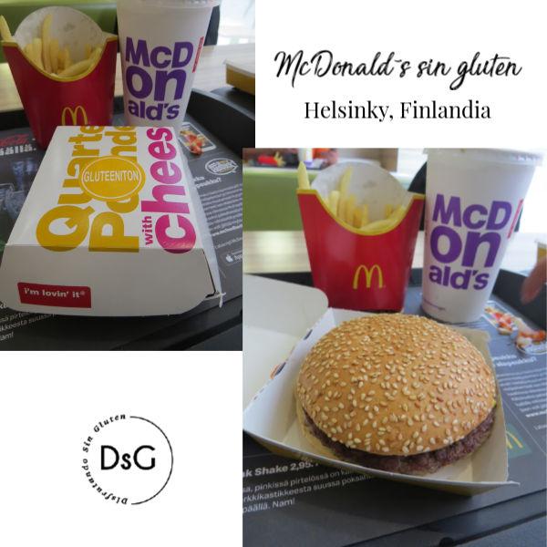 McDonalds sin gluten en Helsinki