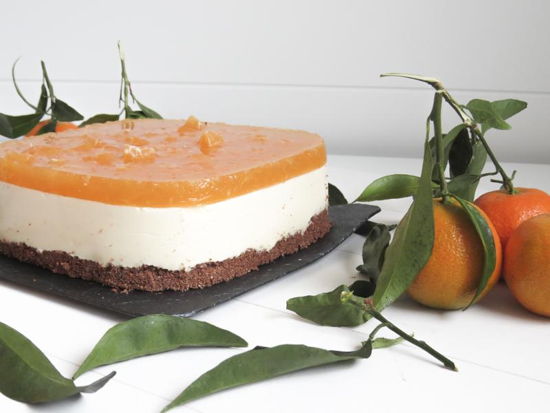 tarta de queso y mandarinas sin gluten