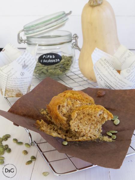 receta muffins de calabaza sin gluten