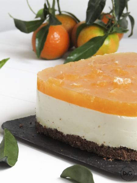 tarta de mandarinas y queso sin gluten