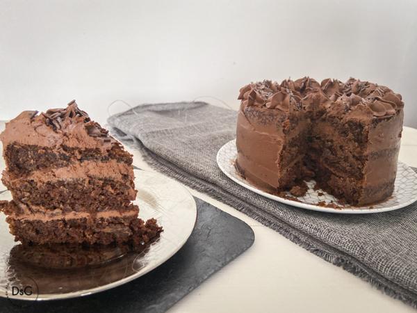 tarta de zanahoria chocolate y piña sin gluten