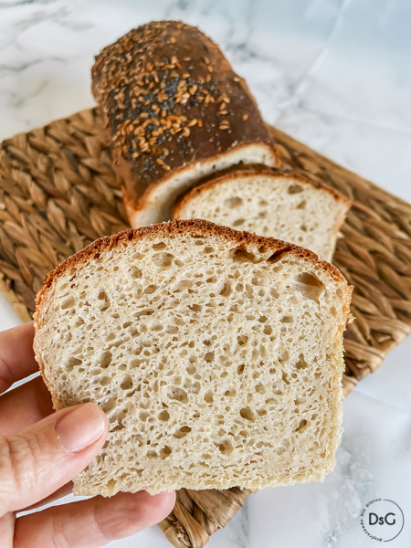 Pan de molde con harinas caseras sin gluten