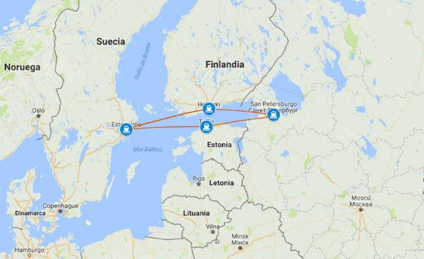 ruta un crucero por el Mar Báltico