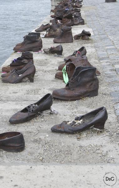 zapatos homenaje a los Judíos, Budapest