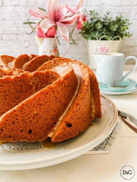 receta de Bundt Cake de café sin gluten