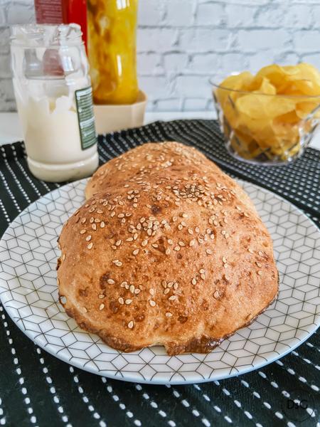 receta de pan de hamburguesa sin gluten