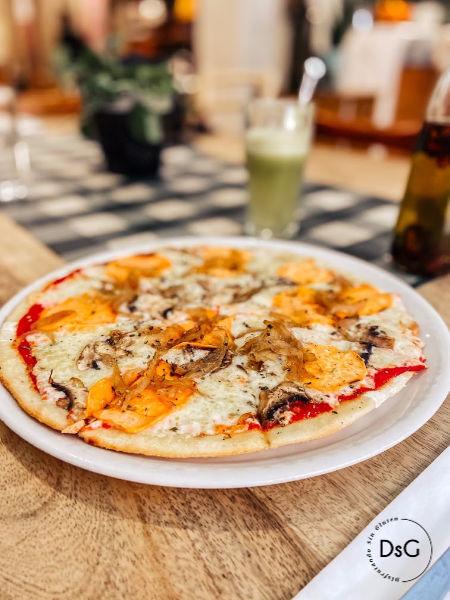 Pizza sin gluten restaurante Messie Barcelona