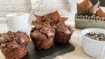 muffins de chocolate sin gluten tipo Starbucks