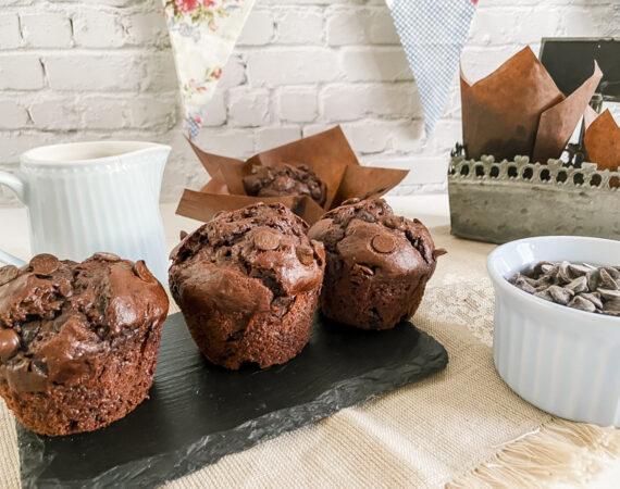"Muffins chocolate sin gluten tipo ""Starbucks"""