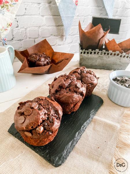 muffins sin gluten de chocolate