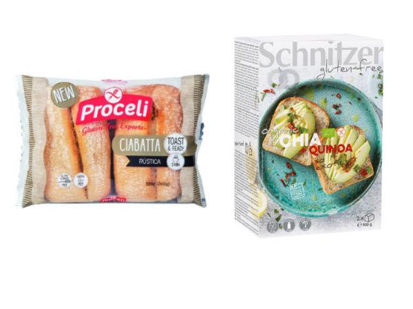 variedad de pan sin gluten
