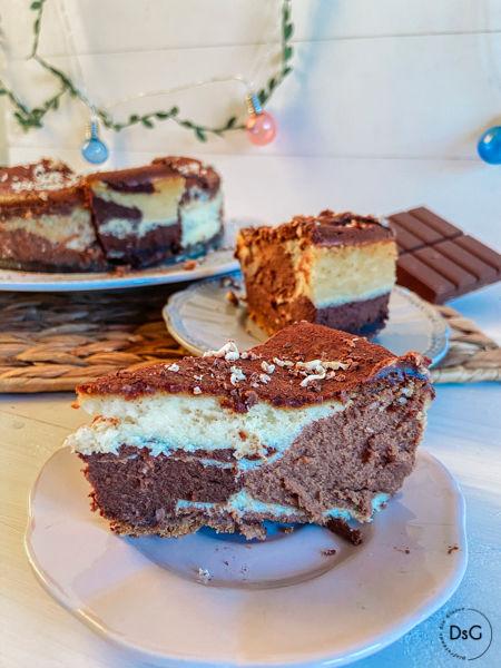 tarta de chocolate y queso sin gluten