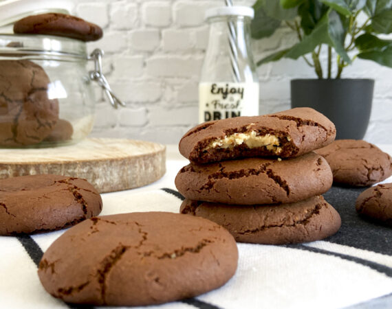 Galletas chocolate y leche condensada