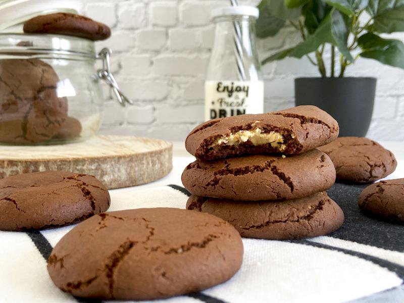Galleta de chocolate y leche condensada sin gluten