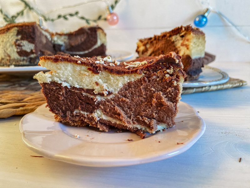 tarta de queso tres chocolates
