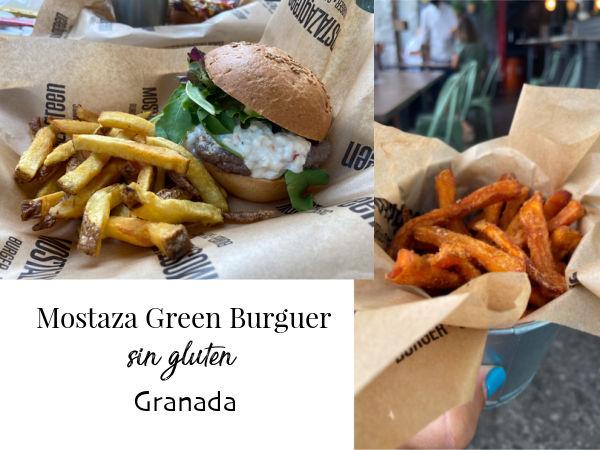 Restaurante Mostaza Green Burger comida sin gluten en Granada