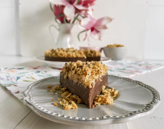 Tarta de chocolate y cacahuetes