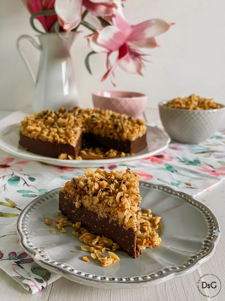 tarta de chocolate y cacahuetes sin gluten
