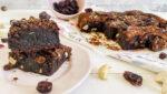 receta de brownie de anacardos y arándanos sin gluten