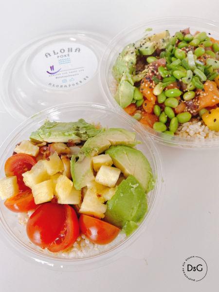 Bowls de aloha Poke sin gluten