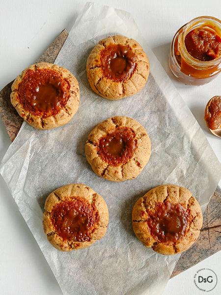 Cookies sin gluten de caramelo