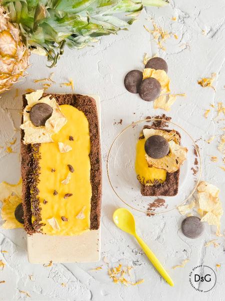 Tarta de crema de piña sin gluten