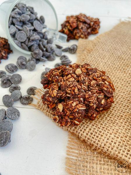 galletas de avena y chocolate sin gluten