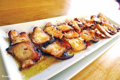 Pulpo restaurante sin gluten Can Rafa Menorca