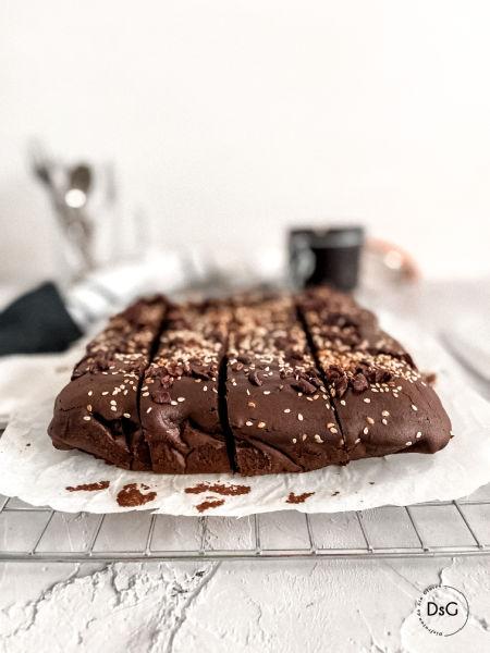 brownie sin gluten de humus