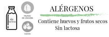 Alérgenos: huevos y frutos secos. Sin lactosa